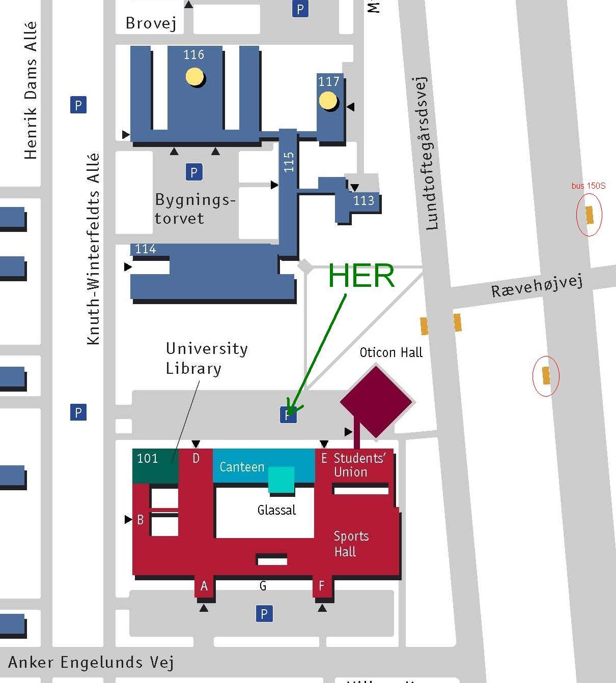 Vej Til Dtu 101 Meeting Room M1 I Kongens Lyngby Med Bus Eller